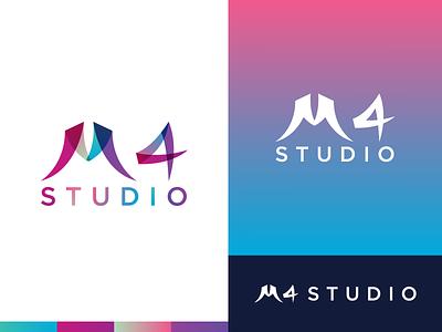 M4 Studio Logo Design logo design logodesign logotype logos branding design brand brand design flat minimal icons vector illustration branding design brand identity typography logo