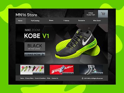 Nike Ecommerce Web UI webpage store shoes uiconcept ecommerce web uiux ux ui webui website nike