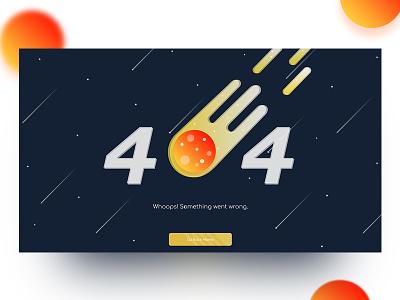 404 Error Page - Dark UI wentwrong 404error pagenotfound ux ui errorpage error 404