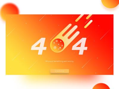404 Error Page - Hot Red UI orange hot red wentwrong 404error pagenotfound ux ui errorpage error 404