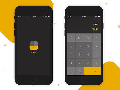 Calculator App UI iphoneapp iosapp appleios apps mobileapp uiux ux ui calculator mobileui