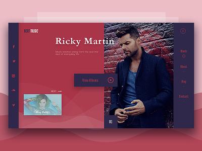 Music Web musicui musicweb musicapp music uiux ux ui webui webpage webdesign website
