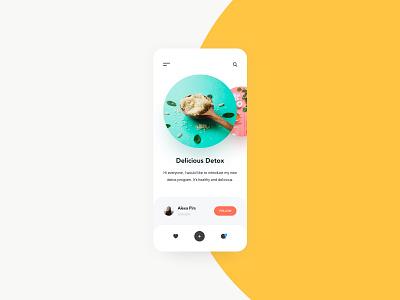 Healthy social network ux design ui social network social app mobile app