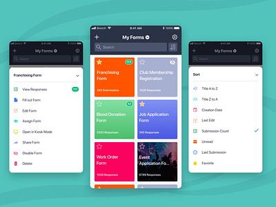 JotForm Mobile Forms mobile ui mobile app design mobile app mobile graphic design design ui form jotform online form uiux ui design
