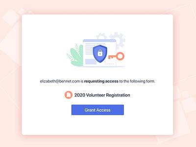 Request Access Email design jotform graphic design uiux ui design verify email signup shapes register motion modal login illustration envelope email