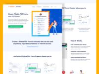 JotForm - Fillable PDF Form Landing