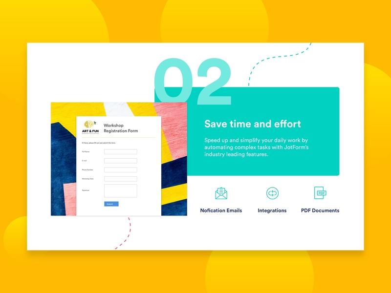Landing - Feature details features page feature website design website logo icon ux landing online form typography analysis jotform form ui uiux ui design branding design illustration graphic design