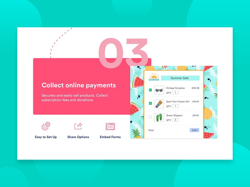 Payment Features typography vector icon landing page features page features payment payment form ux landing online form branding jotform form ui uiux ui design illustration design graphic design