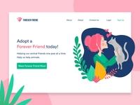 Adopt Pet-Landing Page