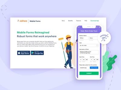 Landing for JotForm Mobile Forms