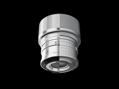 Photography Mobile App ui ux lens minimalistic minimal modern photography slick smooth cinema4d blender 3d model 3d mobile app mobile app design zajno