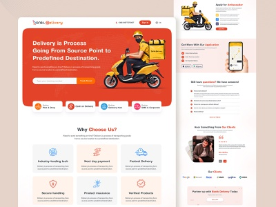 Bonik Delivery Landing Page ui website