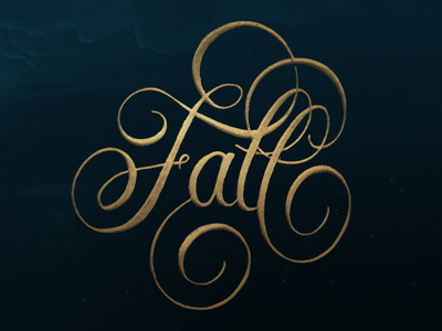 ~Fall~ Calligraphy Lettering.