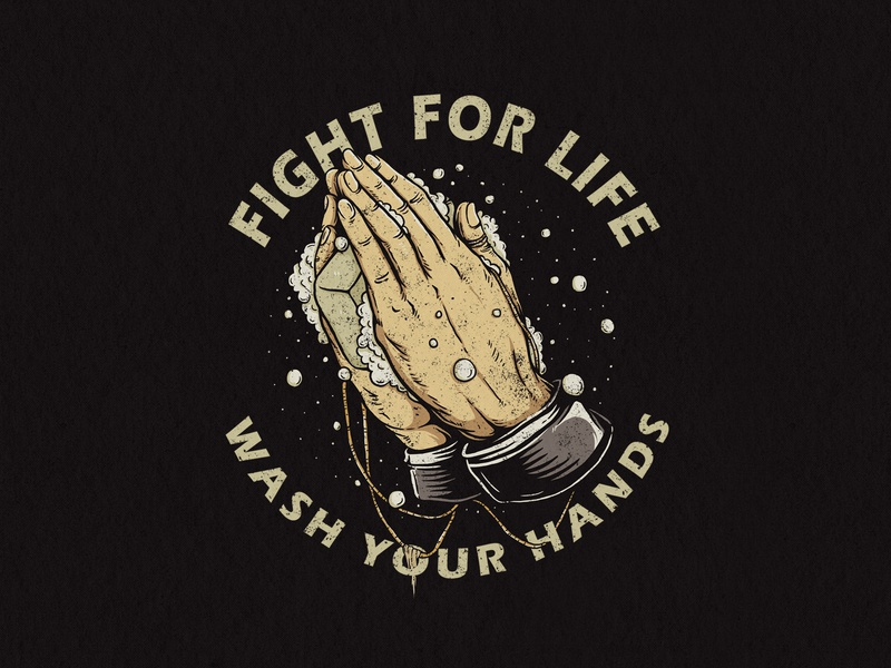 Wash Your Hands drawing vintage coronavirus soap hand hand drawn apparel design design illustration