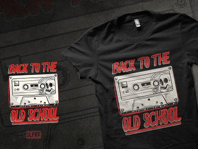 Cassette Tape concept design mixtape sing skull cassette tape nostalgic oldschool music 90s cassette clothing branding drawing apparel design illustration