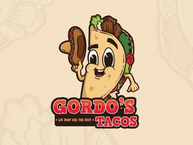 Tacos vector mascot logo mascot fast food tacos mexican food branding concept illustration logo design logo