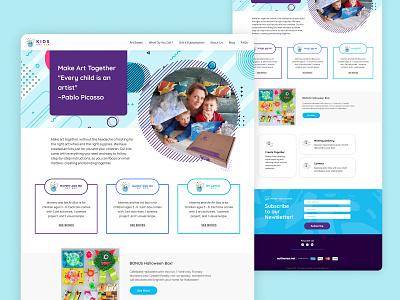 Kids Art Box ui design figma website