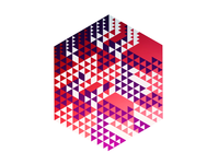 Patterned Hexagon Extrusion