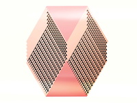 Pink shapes with pattern