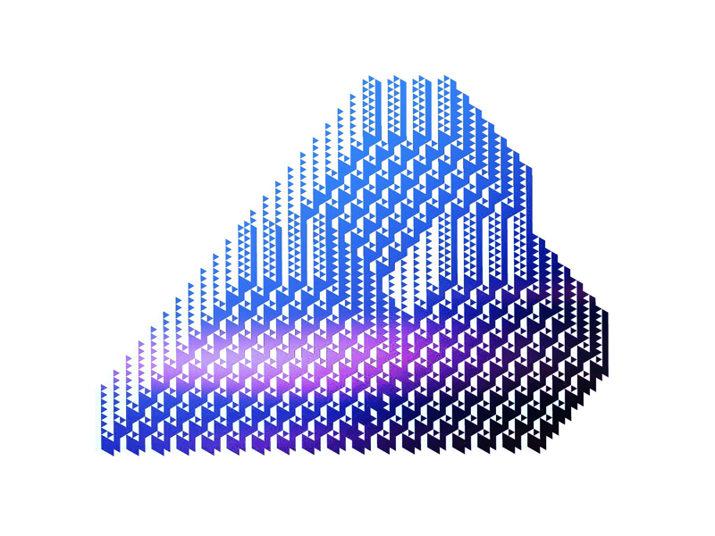 Cloud shape graphic extrusion pattern illustration cloud