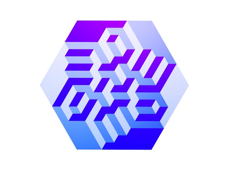 Excavation gradient graphic abstract geometric