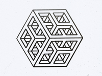 Subdivided cube line drawing