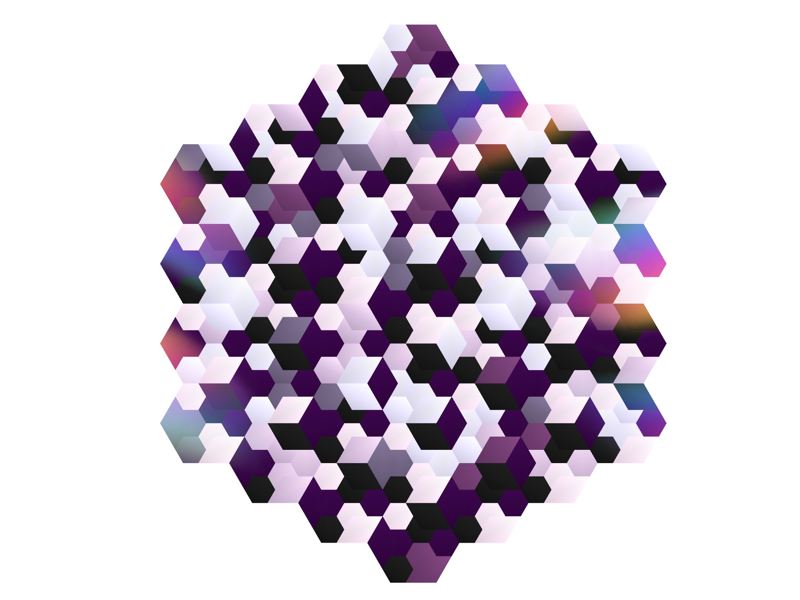 Slightly random pattern abstract illustration graphic hexagon geometric