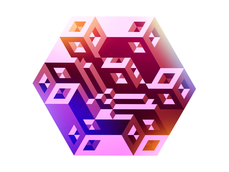 Random construction illustration isometric