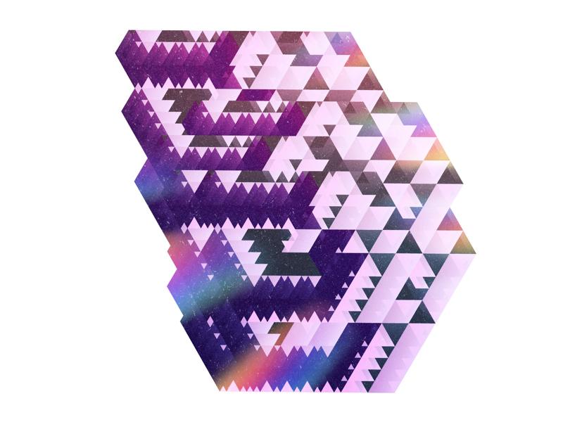 Random fragment random isometric graphic illustration