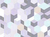 Random geometric pattern