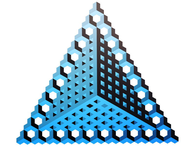 Triangle with border repeat pattern illustration geometric isometric
