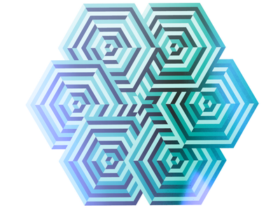 Overlapping hexagons pattern abstract illustration geometric