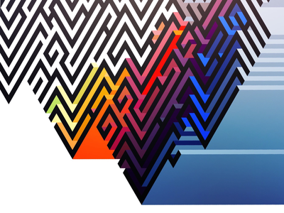 Coloured in maze