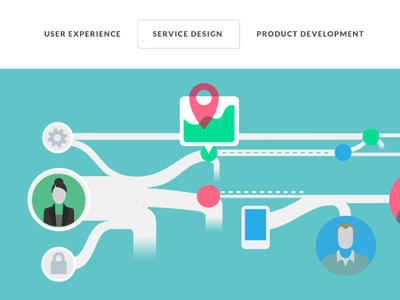 Service Design Illustration service design ux illustration icons vector bright colors
