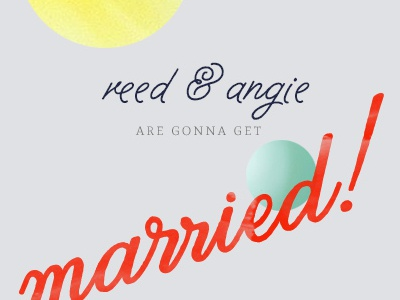 Saving Dates gettin married script orbs of happiness