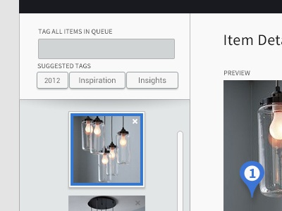 Luci Visual Curation - Add Items upload interface luci visual curation annotation