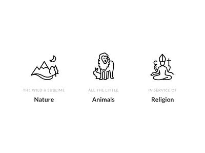 Trivium —Art History Themes minimal history art religion animals nature icons