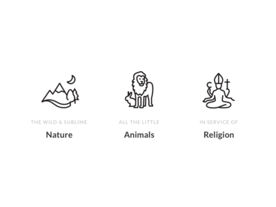 Trivium — Art History Themes minimal history art religion animals nature icons