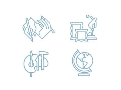 Trivium Icons icons line art history