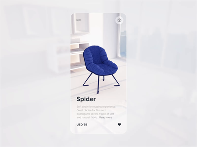 Furniture Store designers white clean branding 3d animation shop store websites furniture mobileapp app website product typography minimalism ux studio the glyph ui
