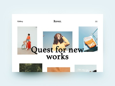 Quest for New Works photography blog portfolio typography web design app studio web-design graphic the glyph gallery photographers photos glyph website minimalism ux ui logo