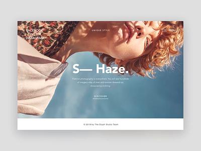 S—  Haze. mobile photography theglyph webdesign logo minimalism ecommerce animation product blog typography studio ux ui branding app fashion photographers gallery website