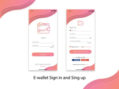 UI design Project 02 | E-wallet Sign in and Sign up page mobile login sing up sing in minimal ux ui mobile application mobile app ui mobile app design mobile design mobile app mobile user interface design user experience user interface userinterface application ui design app ui design