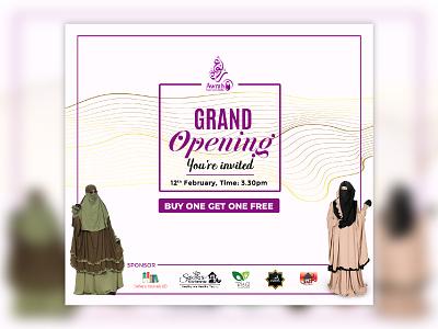 Awrah shop Grand Opening. clothing design clothing women clothing creative minimal flat simple design graphic shop