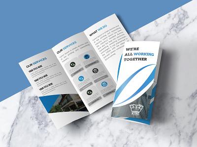Tri-fold Brochure Design creative minimal flat graphic design brochure design brochure tri-fold brochure tri-fold
