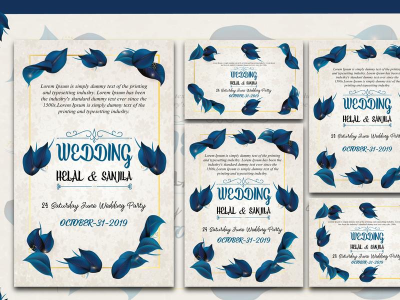 wedding card design vector illustration creative minimal graphic design invitation design invitation card wedding card design wedding cards wedding card