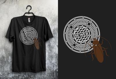Black T-shirt Design For Client