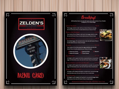 Menu Card Design branding illustration flat illustrator minimal black typography graphic design resturant menu creative menu card