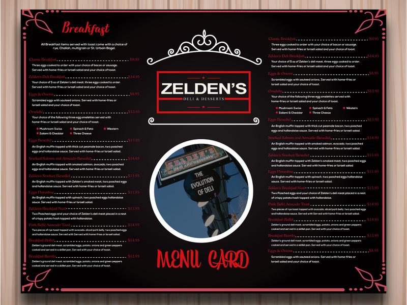 Menu Card Design menu card creative menu resturant design graphic typography black minimal illustrator flat illustration branding