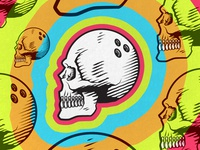 Bowling Skull, skittle teeth